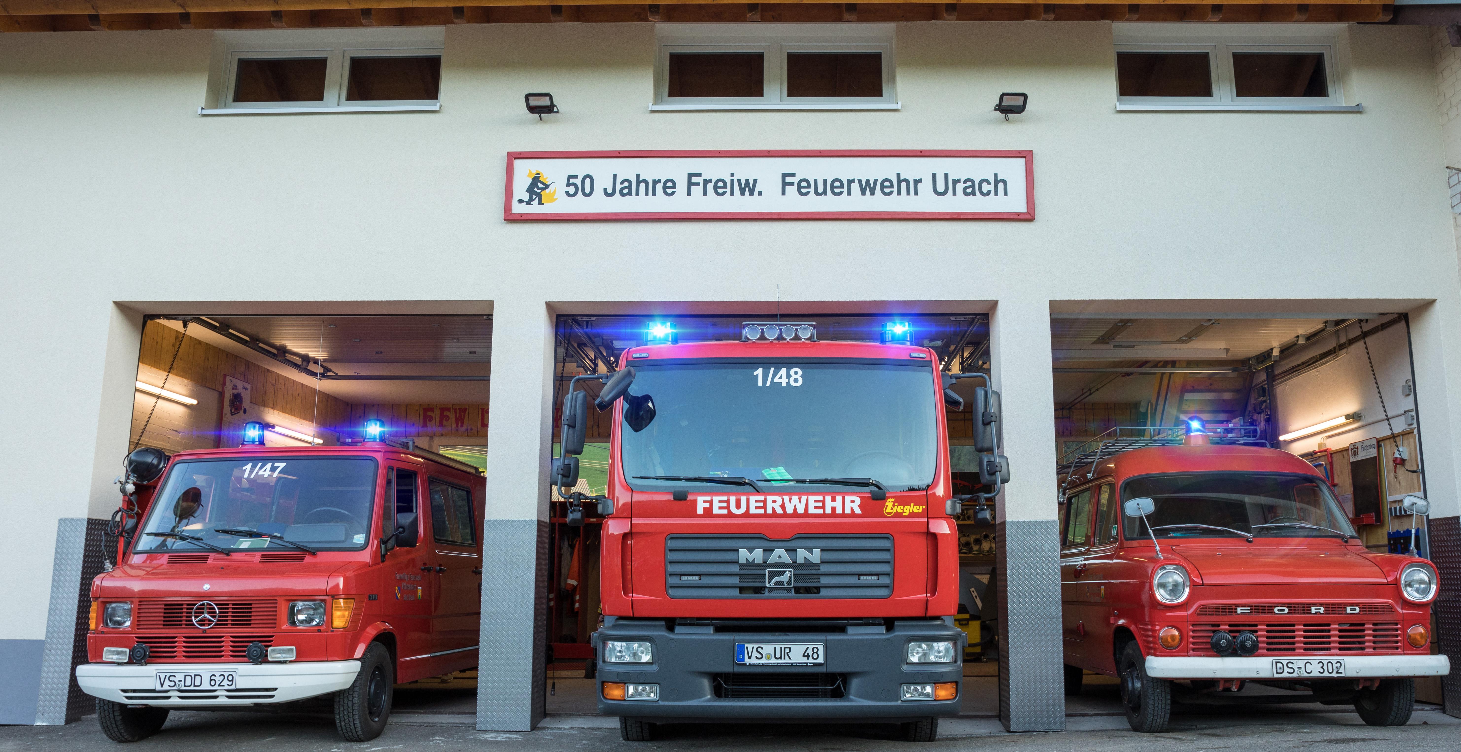 27 / 2021 Fahrzeugbrand Urach