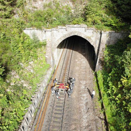 Drohnengruppe bei Großübung an der Schwarzwaldbahn